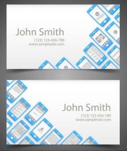 Regular Business Name Cards Both Sides Full Color Design With