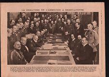 WWI Treaty of Brest-Litovsk /Disaster Church Halifax Yorkshire 1919 ILLUSTRATION