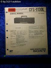Sony Service Manual CFS 1130L Cassette Corder (#3504)