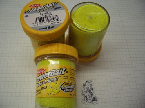 Berkley Power Bait Trout Bait Glitter Corn Mais  3x50g-Glas 100g//6,66€ Teig