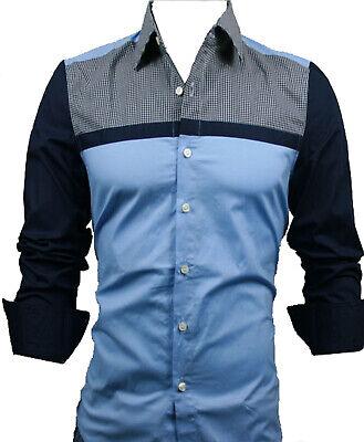 GL Fashions #44# NUOVI progettati Uomo Casual Slim Abito Camicie UK Taglia S//M//L//XL//XXL