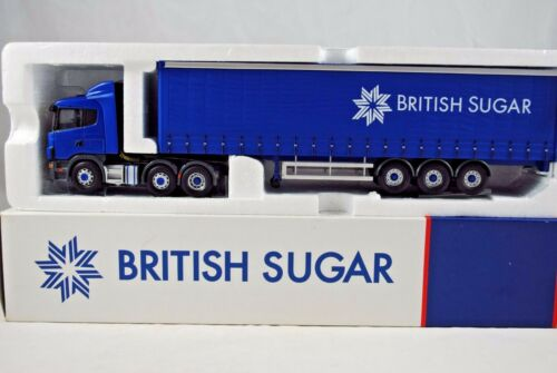 Corgi 150 CC12221 SCANIA Truck & CURTAIN Trailer in BRITISH SUGAR Livery MIB