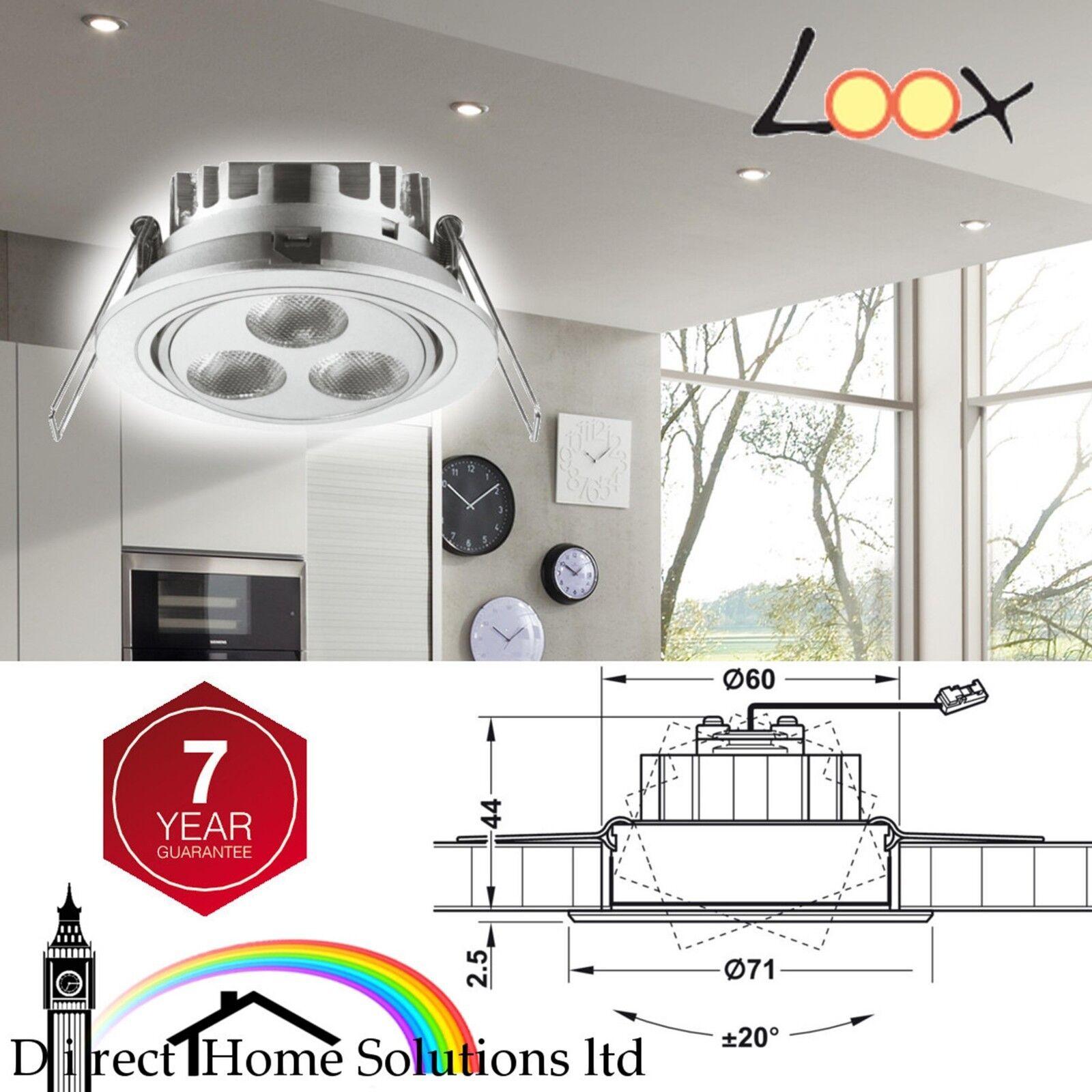Hafele Loox compatible Java 350 mA Dimmable LED Luz de Techo Ø71mm IP44 nominal
