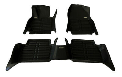 Largest Coverage Full Set - Black TuxMat Custom Car Floor Mats for Chevrolet Camaro 2010-2015 Models/ - Laser Measured The Ultimate Winter Mats All Weather Also Look Great in the Summer./ The Best/ Chevrolet Camaro Accessory Waterproof