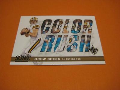 2017 Panini Score Football Color Rush #11 Drew Brees Saints