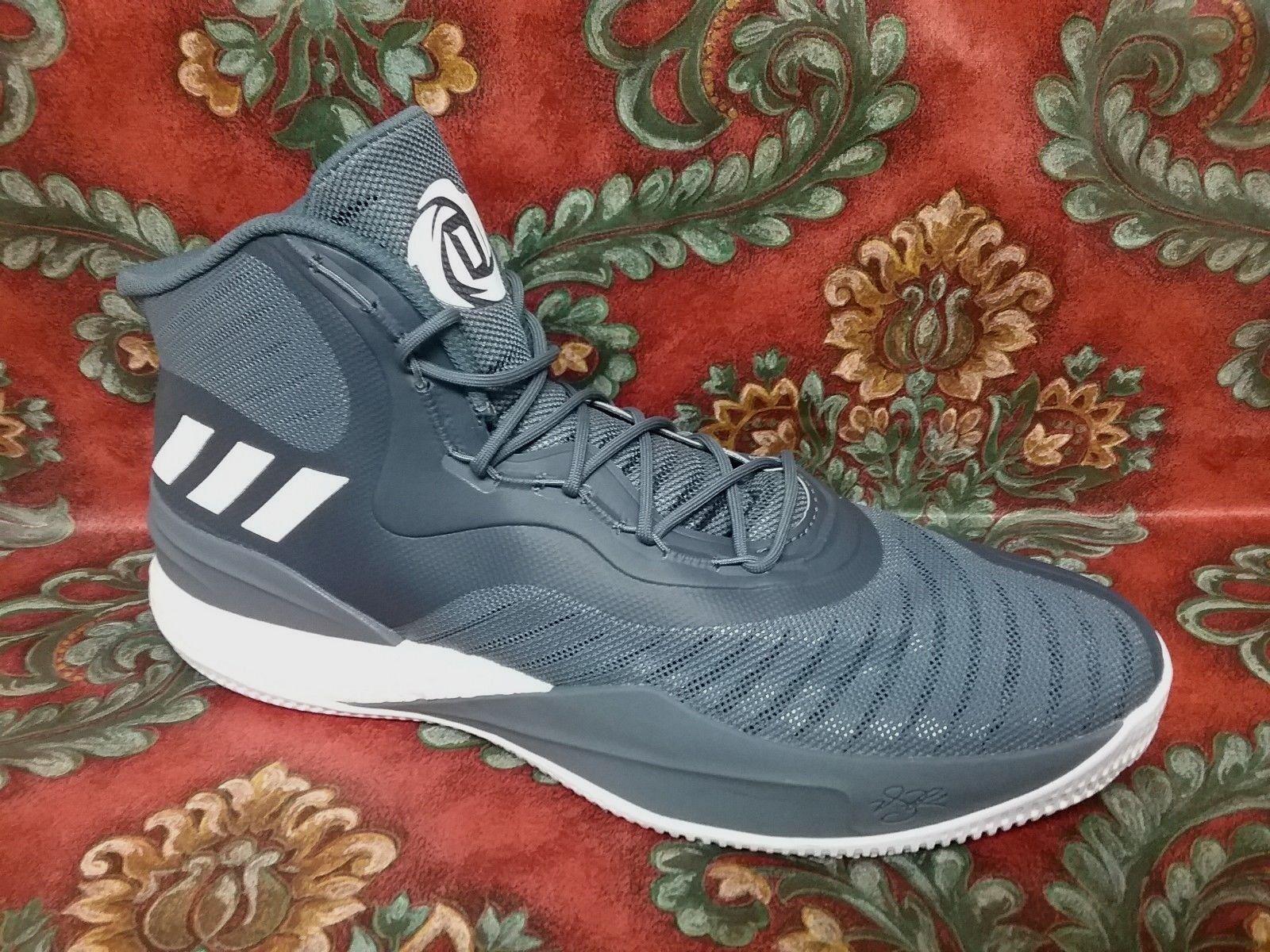ADIDAS - CQ1620 - D. DOSE - DERRICK ROSE - Homme Chaussures - Gris Blanc -