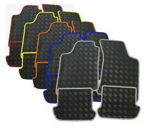 Gummi-Fussmatten-fuer-Opel-Mokka-Mokka-X-in-schwarz-Rand-verschiedene-Farben