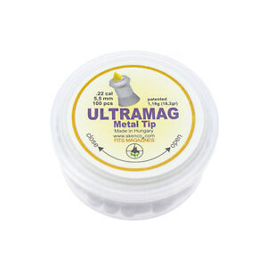 Skenco-Ultramag-Hohlspitz-5-5-Mm-1-18g-18-2gr-100-Pieces-Diabolo-Emballage