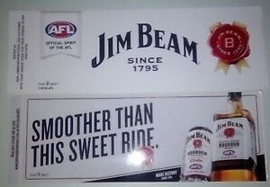 2-Mixed-Jim-Beam-BOURBON-AFL-Footy-Stickers-2018-since-1795