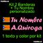 Pegatina Vinilo Bandera Cataluña Estelada Nombre Personalizado