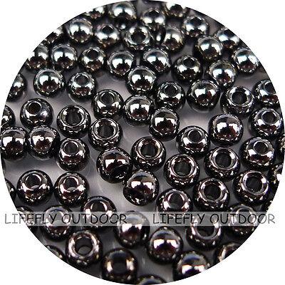 100 Fly Tying Brass  Beads Nickel  of  3//32