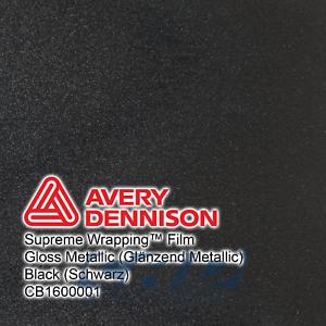 Avery Supreme Car Wrapping Film Folie schwarz glänzend metallic 32,00 €// m 5 m