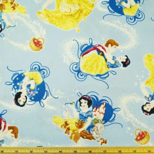 Disney Princess Snow White Prince Charming 100/% Cotton Fabric