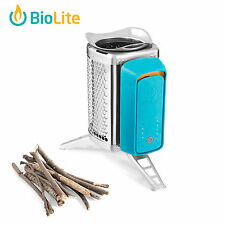 BioLite Bio Lite Cook Stove Teal Camp Cook Wood Burning for Outdoor Cooking
