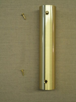 """Brass Screw Joint Indoor Oak Flagpole Replacement 1 1/4"""" O.D. and 1 3/32"""" I.D."""