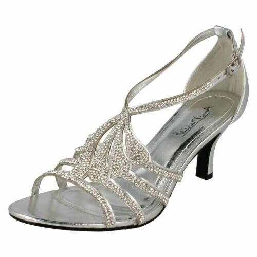 Da Strass Donna Michelle Con party Sandali Color Tacchi Anne Matrimonio Argento rwrxR6qU4