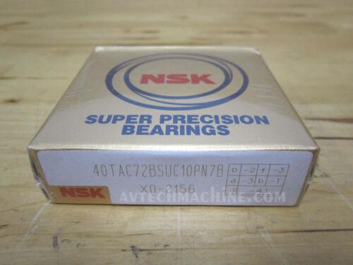 NSK Angular Contact Bearing 40TAC72BSUC10PN7B