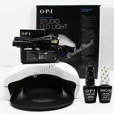 OPI GelColor Kit >110V-240V NEW STUDIO LED Light Lamp +Base & Top Coat Gel Color