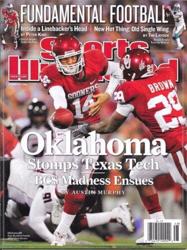 December 1 2008 Sam Bradford Oklahoma Sooners SPORTS ILLUSTRATED NO LABEL