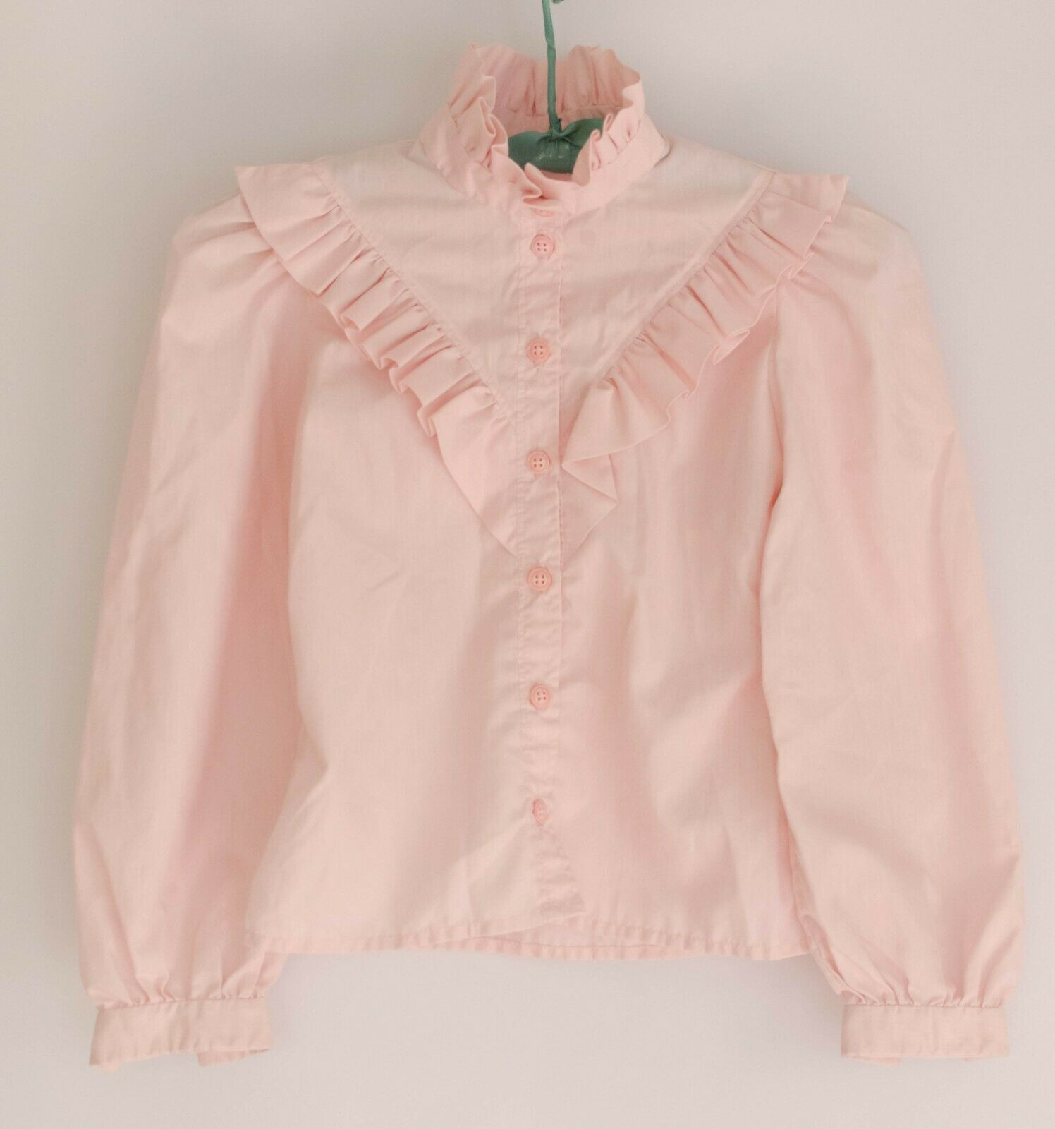 90s pink gingham embroidered blouse  vintage gingham pink cotton shirt  birds embroidery blouse  90s french summer blouse