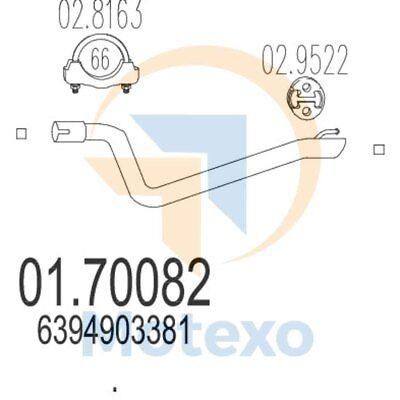 Acquista A Buon Mercato Scarico Mts 01.70082 Mercedes Vito 2.2 111 Cdi Td 116bhp 09/03 -- Buona Conservazione Del Calore