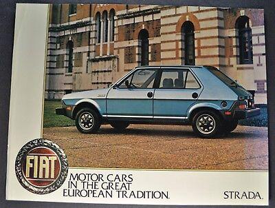 1980 Fiat Brava 1-page Original Dealer Sales Brochure Fact Sheet