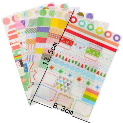 6pcs Transparent Calendar Scrapbook Diary Book Decor Paper Planner Sticker new.