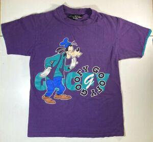 Vintage-80s-90s-Disney-Originals-Goofy-Purple-T-Shirt-SMALL-MEDIUM-USA