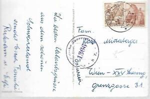 1949-SWITZERLAND-25c-POSTCARD-OSTERREICHISCHE-ZENSURSTELLE-VIOLET-CANCELS-173