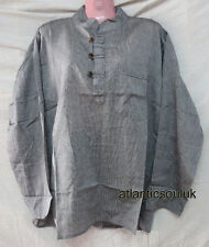 K806 M Cotton grandad long sleeve Grey Plain Summer fashion men shirt Nepal
