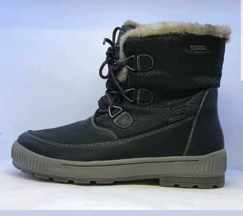 Skechers Ladies Black Snow Boots With Line Fur Size UK 7