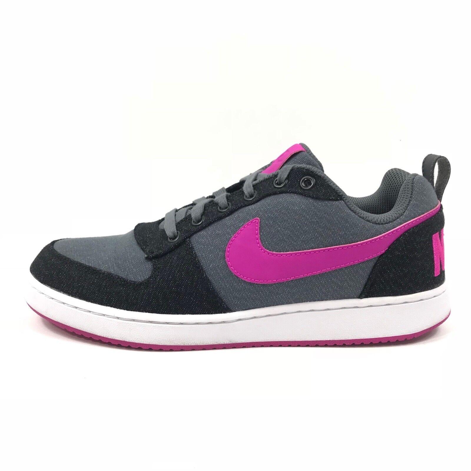 check out 579c3 2557c Nike WMNS Court Borough Low Premium Premium Premium Sneakers Gray Black  Pink Sz 9.5 861533-