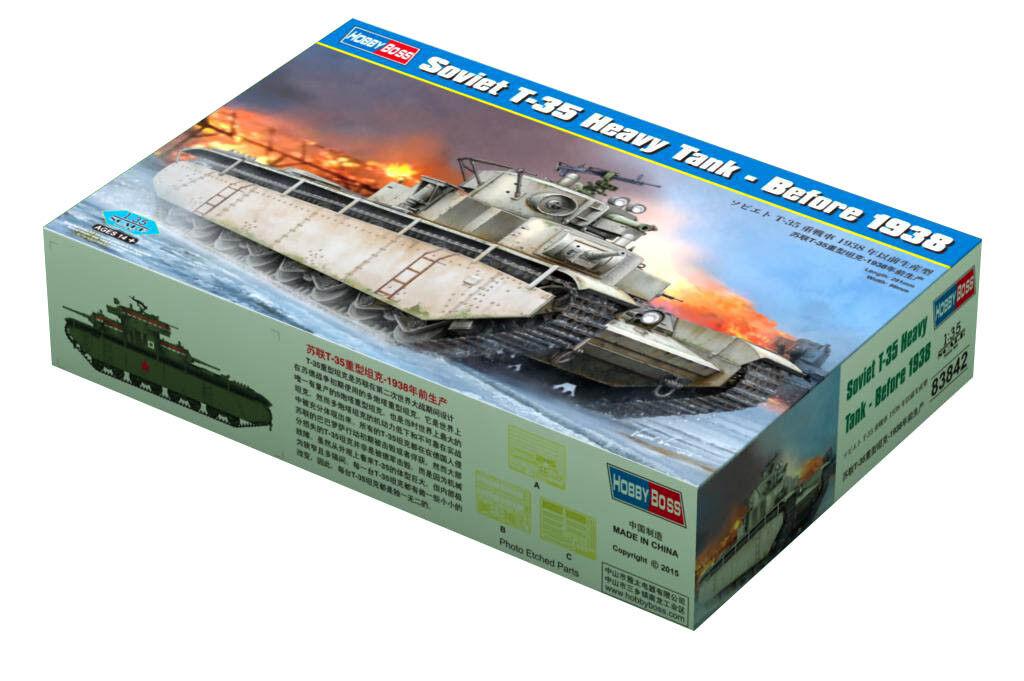 Hobby Boss 3483842 schwerer Panzer T-35 vor 1938 1 35 Modell Bausatz Modellbau  | Jeder beschriebene Artikel ist verfügbar