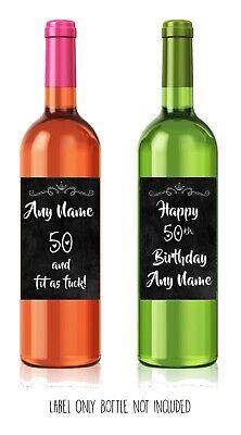 30th birthday Funny Present//Gift WINE LABEL Him//Her sarcastic alternative