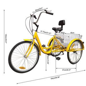 7-Speed-Adult-20-034-26-034-3-Wheel-Tricycle-Trike-Bike-Bicycle-Cruise-With-Basket