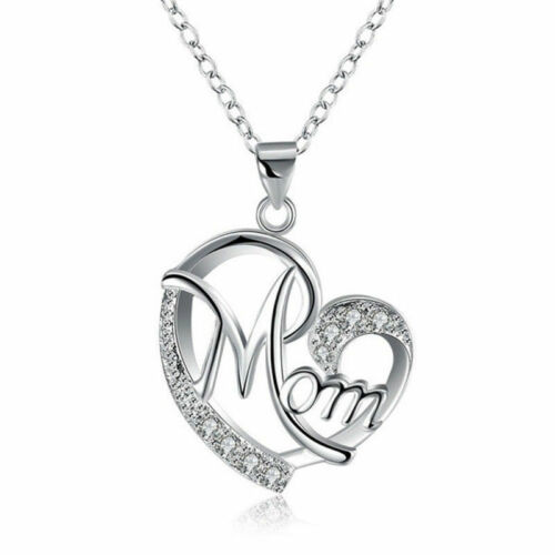 Rose Gold plated Mom necklace pendant  Necklace for Mum chain