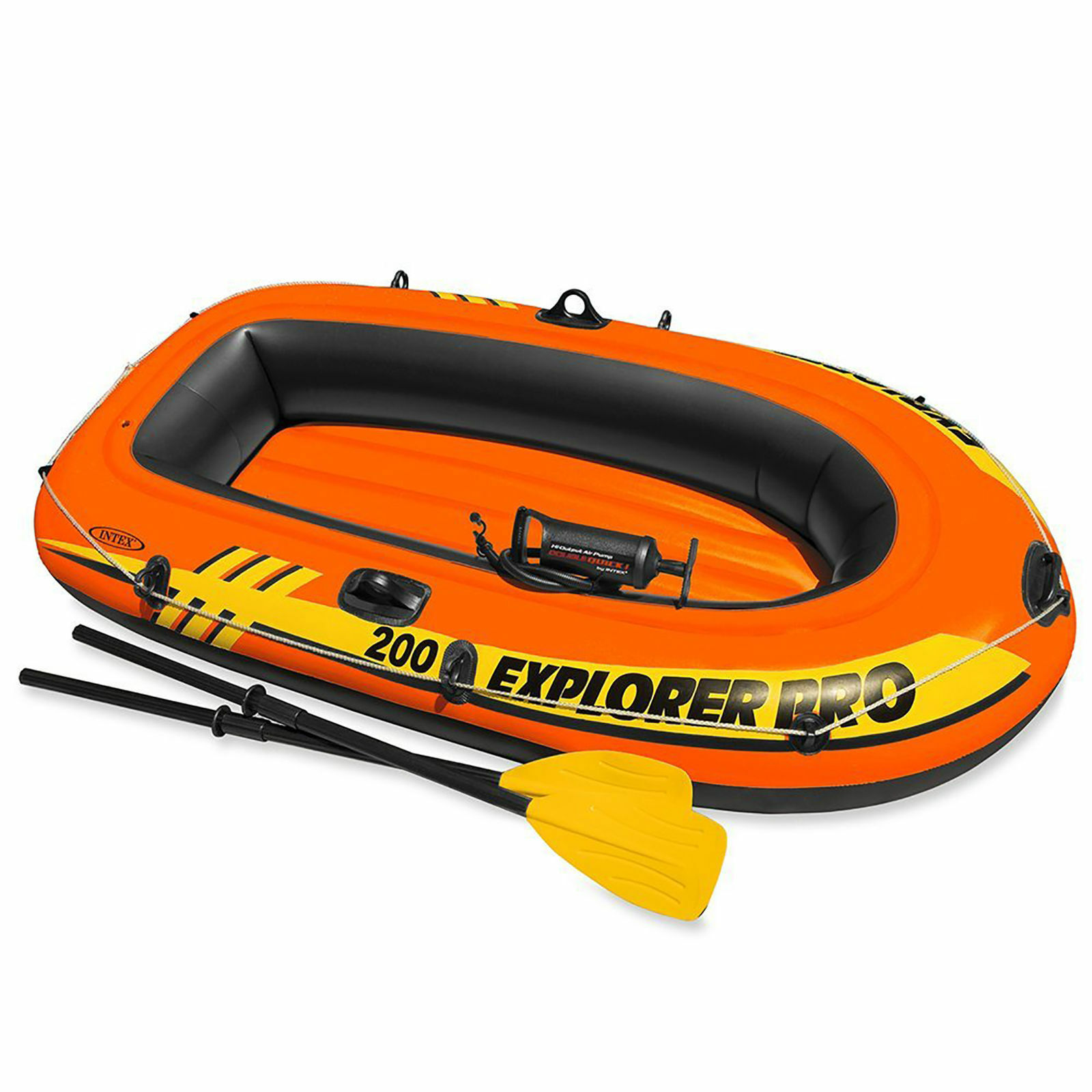 Intex 77  x 40  Explorer Pro 200 Inflatable Boat Dinghy + Oars and Pump