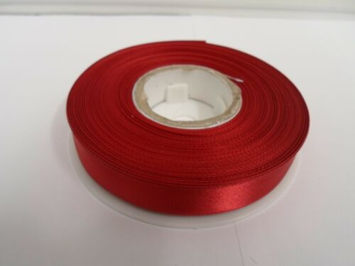 15mm Satin Double Sided Ribbon 15 UK VAT Reg 2 metres or a Full Roll 25 mtrs