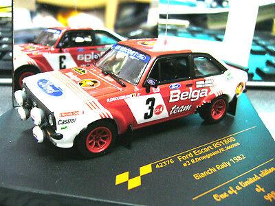 FORD Escort MKII Rallye Droogmans Belga Bianchi 1982 #3 S-Preis Vitesse 1:43