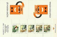 FINLANDE OISEAUX ROUGE GORGE BERGERONNETTE JASEUR BIRDS VÖGEL ** 1982 CARNET 8€