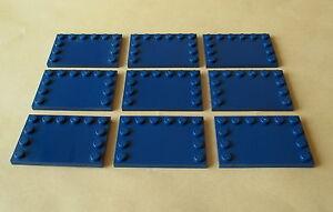 LEGO 10 x Platte 4x6 Fliese mit Noppen 6180 dunkelblau darkblue plate 7661 9515 Baukästen & Konstruktion LEGO Bau- & Konstruktionsspielzeug
