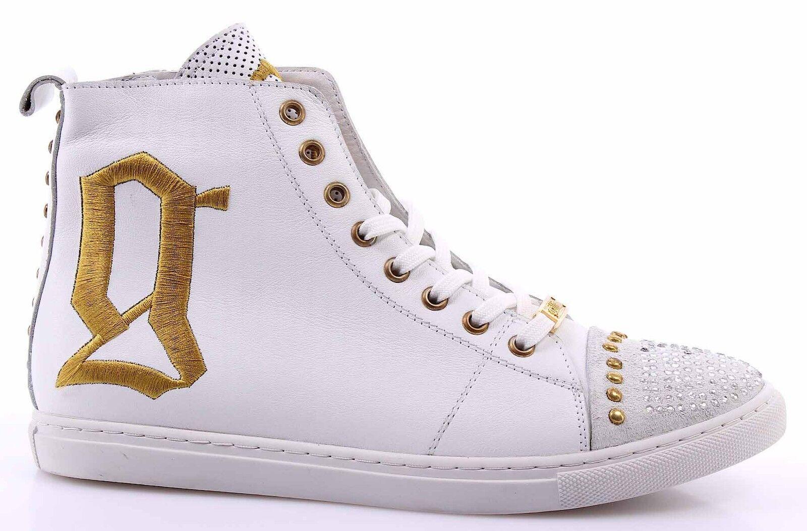 Scarpe Sneakers Alte Donna GALLIANO 2974 Var Var Var B-A Pelle Bianca bb0bda