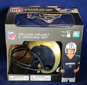 e55e00b3af8 ST LOUIS RAMS Halloween Costume - Kids Football SMALL Deluxe Youth ...