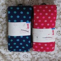 Xhilaration Blue & Pink Polka Dot Tights Sz 12-14 73 - 95 Lbs 2 Pair