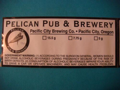 BEER LABEL STICKER *~* PELICAN Pub /& Brewery Surfer/'s Ale ~ Pacific City OREGON