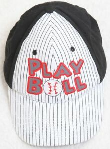 c6f52dadea70b Play Ball Hat Cap Adjustable Snap Back White Black Blue Red Cotton ...