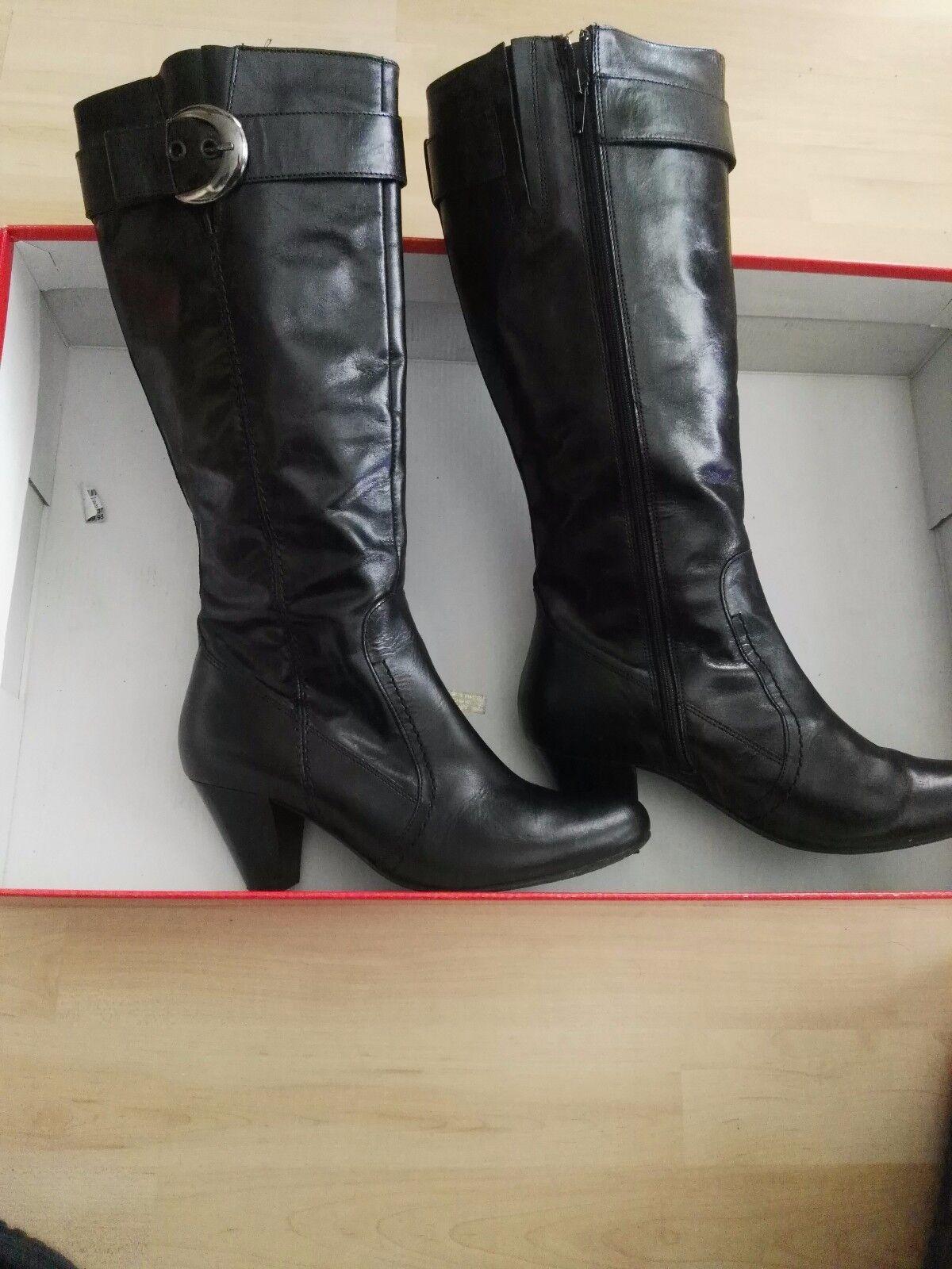 Damenschuhe Stiefel Damenstiefel Lederstiefel Echt Leder Neu 37