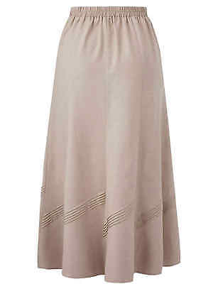 "Julipa ladies skirt plus size 22 24 26 28 30 linen blend 33/"" long calf length"