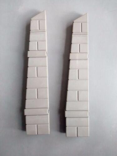 *Playmobil* 2x Abschluss für Mauer T-Verbinder für Rundturm *Ritterburg 3666