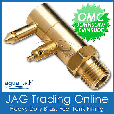 Outboard//Boat Line CHROME BRASS FUEL TANK END FITTING for JOHNSON EVINRUDE OMC